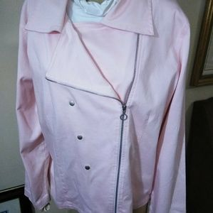 Chico's Pink Asymmetrical Jacket